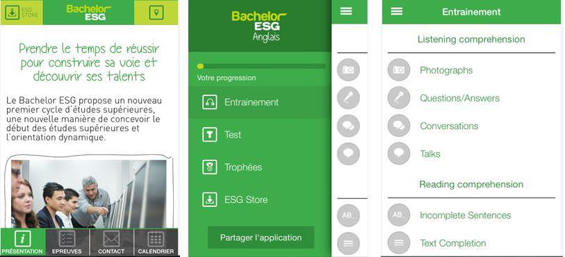 application bachelor ESG