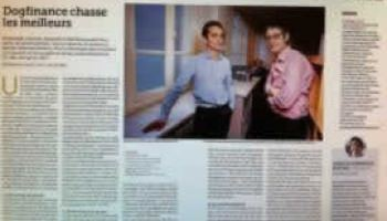 """Le magazine """"L'Entreprise"""" consacre un article à Dogfinance, une start-up créée par trois diplômés de l'ESGF"""